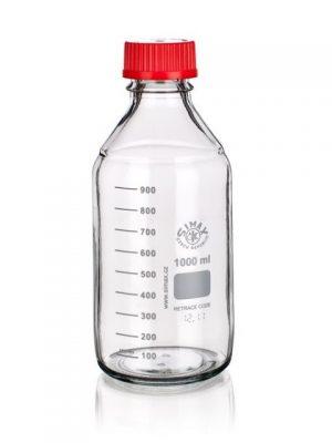 Sticla alba cu capac filetat 45 mm autoclavabila 200 grd - 1000 ml