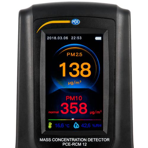 Detector masa de particule 2,5 microni pce-rcm-12-CO2