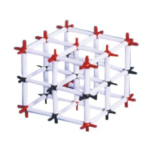 Model clorura de sodiu - retea cristalina clorura de sodiu