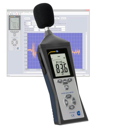 Sonometru profesional clasa II cu datalogger si soft PC. PCE-322